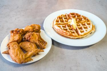 Rush Hour Chicken and Waffles