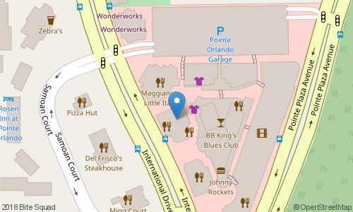 Map Of Pointe Orlando Pizza @ Pointe Orlando Orlando Delivery   Deliver Dinner, American